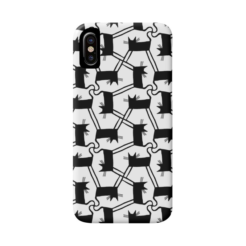 Black Cat Pattern Accessories Phone Case by Renee Leigh Stephenson Artist Shop
