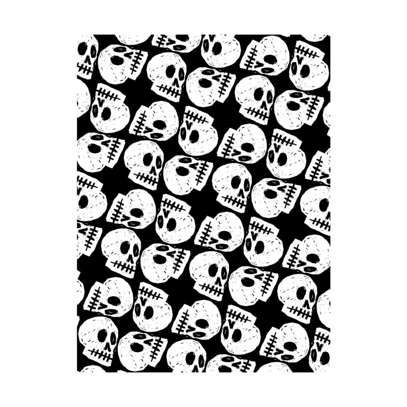Black and White Skull Pattern by Renee Leigh Stephenson Artist Shop