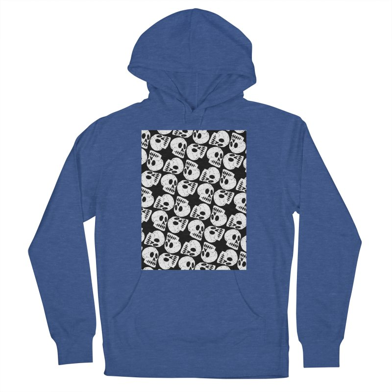 Black and White Skull Pattern Women's Pullover Hoody by Renee Leigh Stephenson Artist Shop