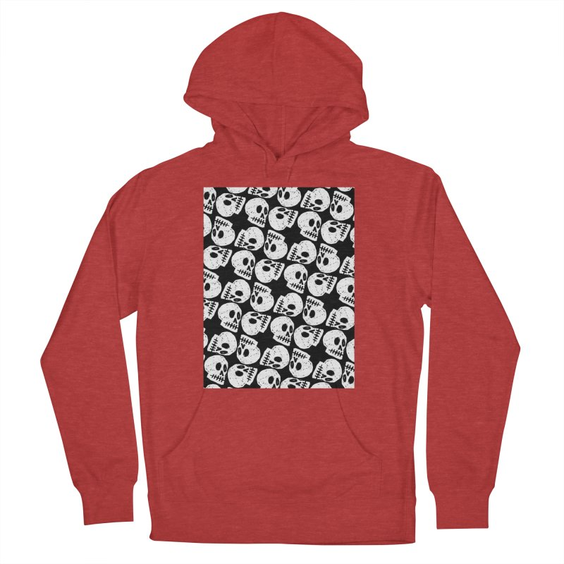 Black and White Skull Pattern Men's Pullover Hoody by Renee Leigh Stephenson Artist Shop