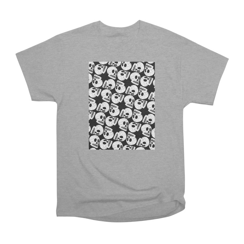 Black and White Skull Pattern Men's Classic T-Shirt by Renee Leigh Stephenson Artist Shop