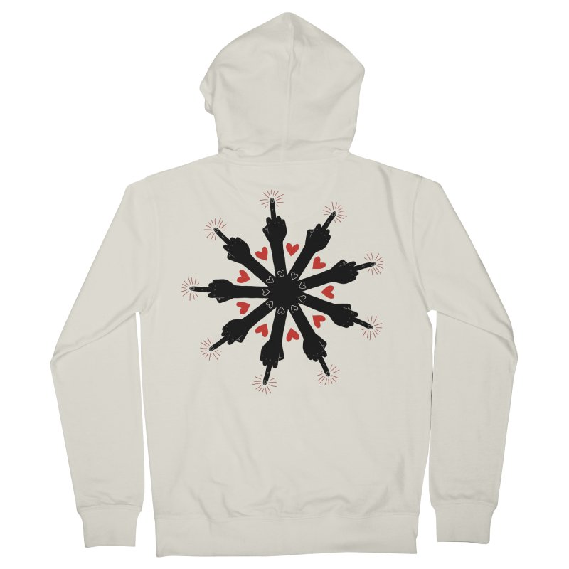 I Love You, But Go Away Women's Zip-Up Hoody by Renee Leigh Stephenson Artist Shop