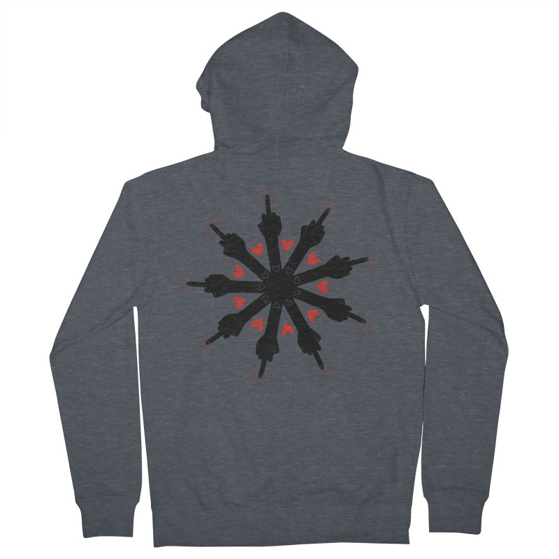 I Love You, But Go Away Men's French Terry Zip-Up Hoody by Renee Leigh Stephenson Artist Shop