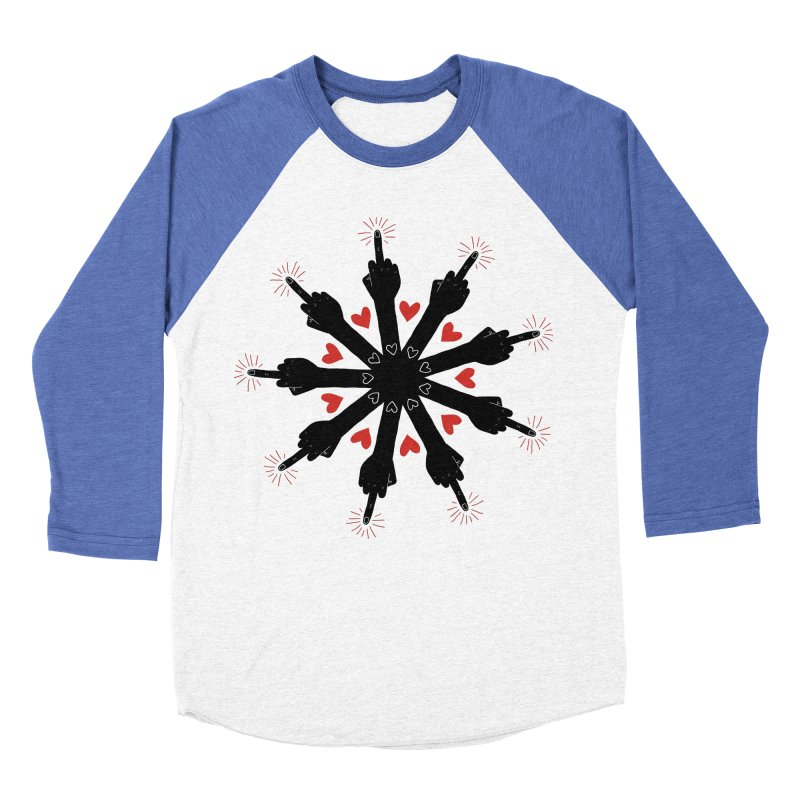 I Love You, But Go Away Women's Baseball Triblend T-Shirt by Renee Leigh Stephenson Artist Shop