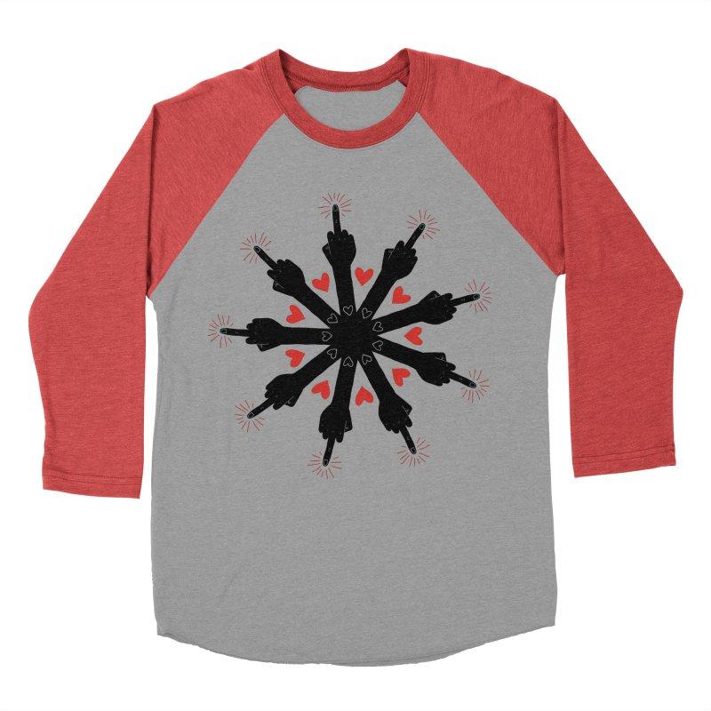 I Love You, But Go Away Men's Baseball Triblend Longsleeve T-Shirt by Renee Leigh Stephenson Artist Shop