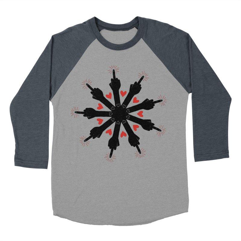 I Love You, But Go Away Men's Baseball Triblend T-Shirt by Renee Leigh Stephenson Artist Shop