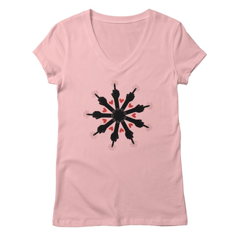 I Love You, But Go Away Women's V-Neck by Renee Leigh Stephenson Artist Shop