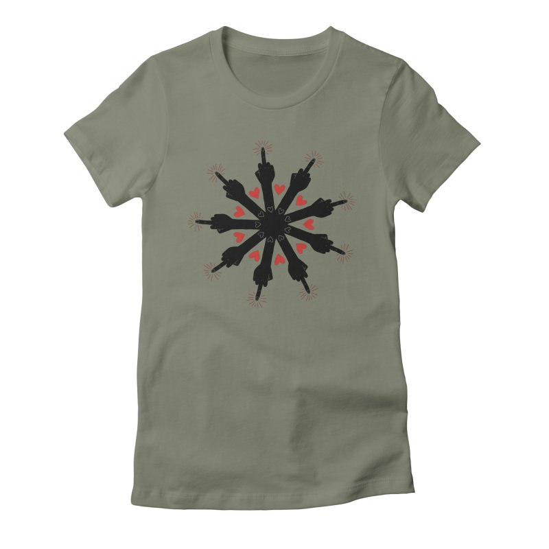 I Love You, But Go Away Women's Fitted T-Shirt by Renee Leigh Stephenson Artist Shop