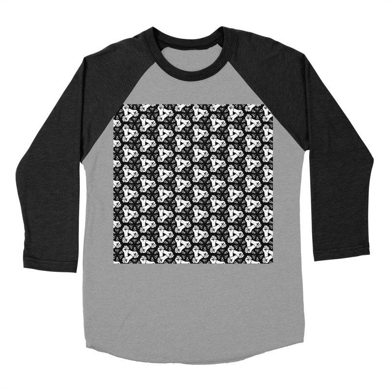 Feminist Resist Fist Men's Baseball Triblend Longsleeve T-Shirt by Renee Leigh Stephenson Artist Shop