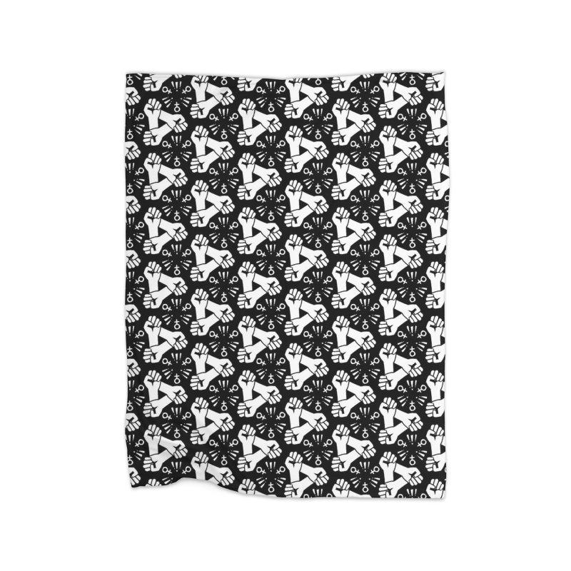 Feminist Resist Fist Home Fleece Blanket Blanket by Renee Leigh Stephenson Artist Shop