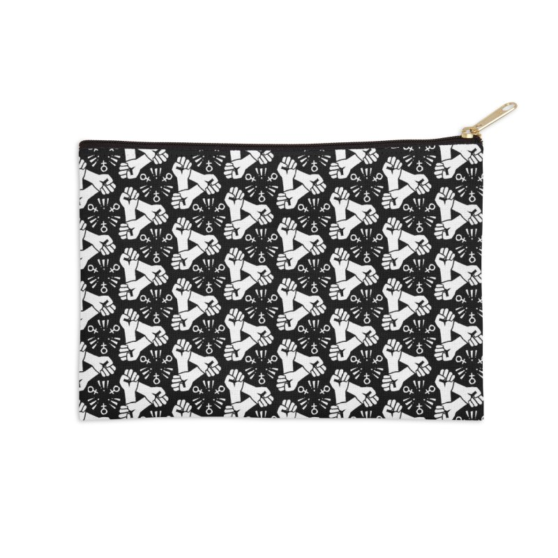 Feminist Resist Fist Accessories Zip Pouch by Renee Leigh Stephenson Artist Shop