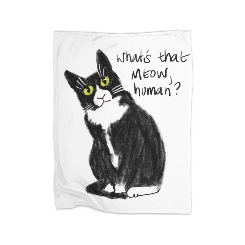 Say That Again? Home Fleece Blanket Blanket by Renee Leigh Stephenson Artist Shop