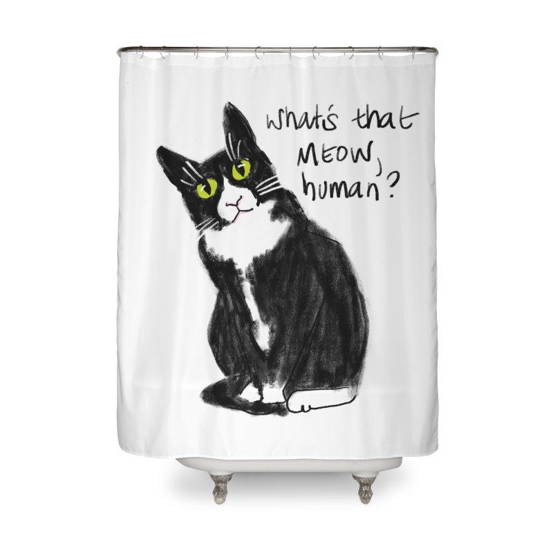 Say That Again? Home Shower Curtain by Renee Leigh Stephenson Artist Shop