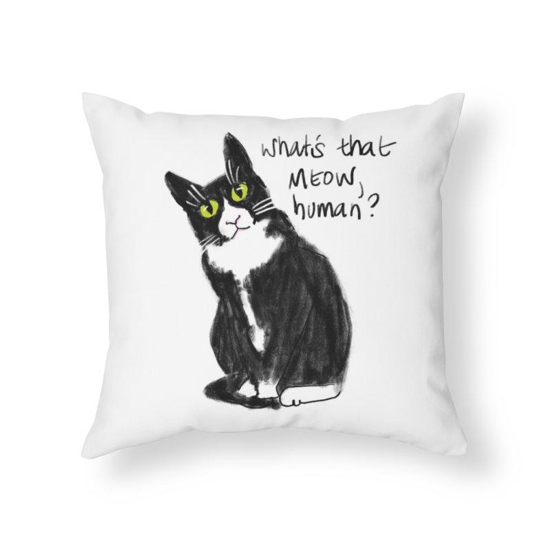 Say That Again? Home Throw Pillow by Renee Leigh Stephenson Artist Shop