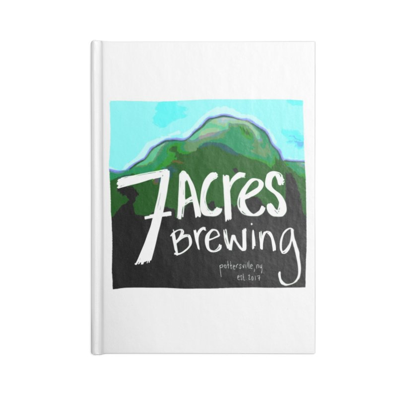 7 Acres Brewing Accessories Notebook by Renee Leigh Stephenson Artist Shop