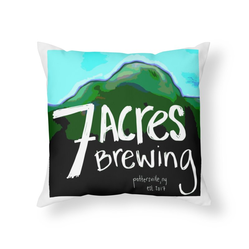 7 Acres Brewing Home Throw Pillow by Renee Leigh Stephenson Artist Shop