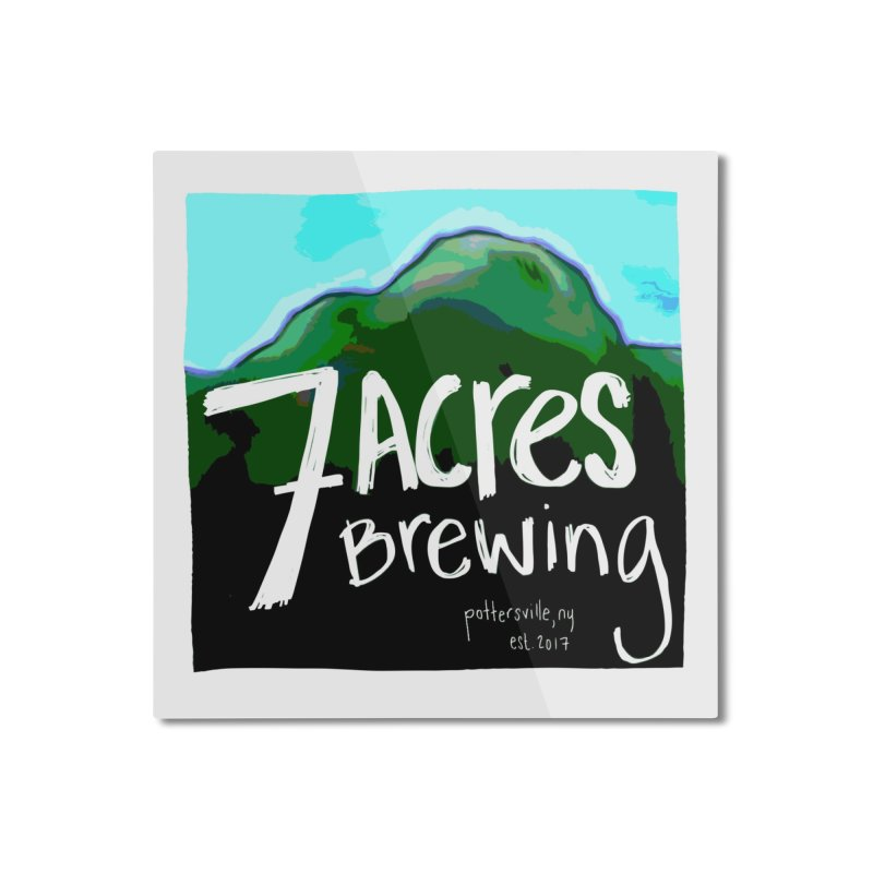 7 Acres Brewing Home Mounted Aluminum Print by Renee Leigh Stephenson Artist Shop