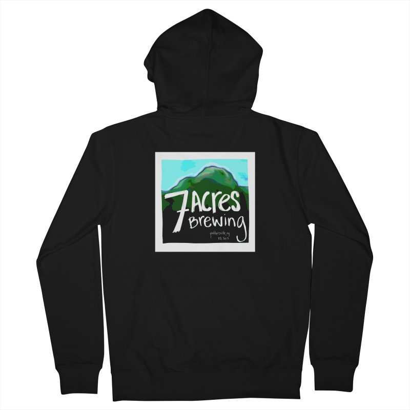 7 Acres Brewing Men's Zip-Up Hoody by Renee Leigh Stephenson Artist Shop