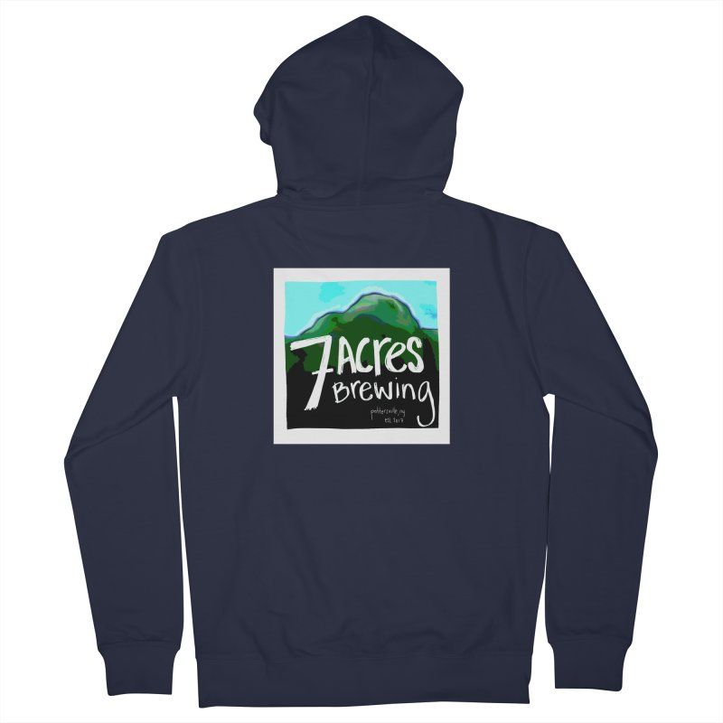 7 Acres Brewing Men's French Terry Zip-Up Hoody by Renee Leigh Stephenson Artist Shop