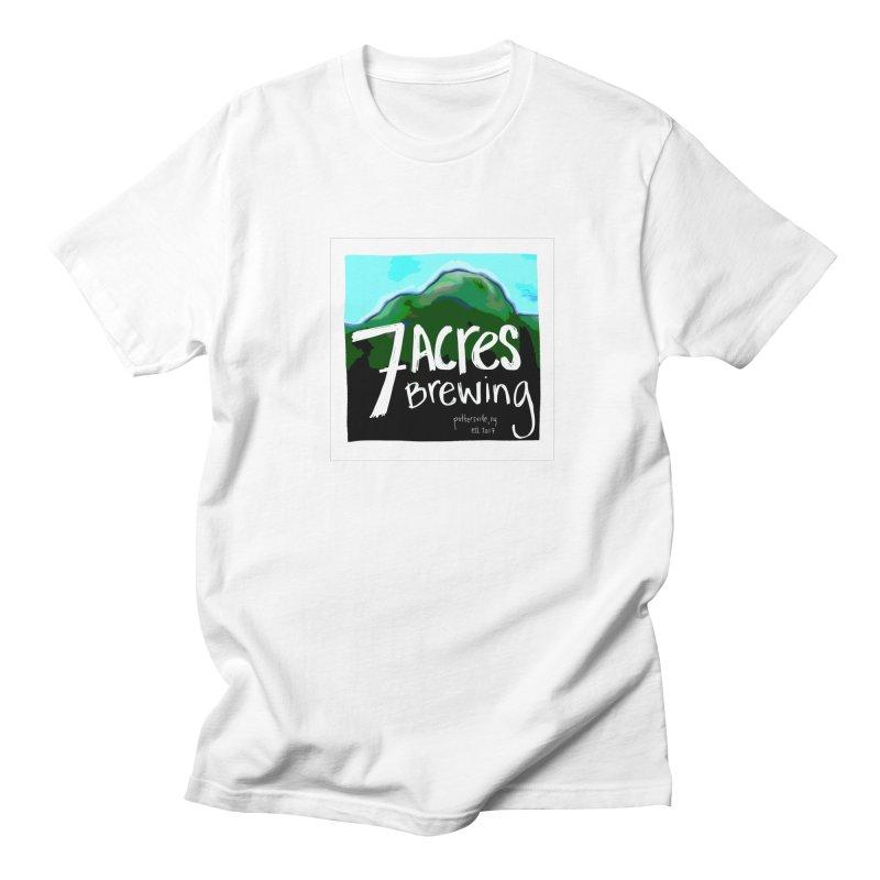 7 Acres Brewing Men's Regular T-Shirt by Renee Leigh Stephenson Artist Shop