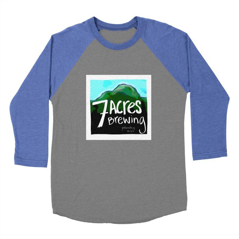 7 Acres Brewing Men's Baseball Triblend T-Shirt by Renee Leigh Stephenson Artist Shop