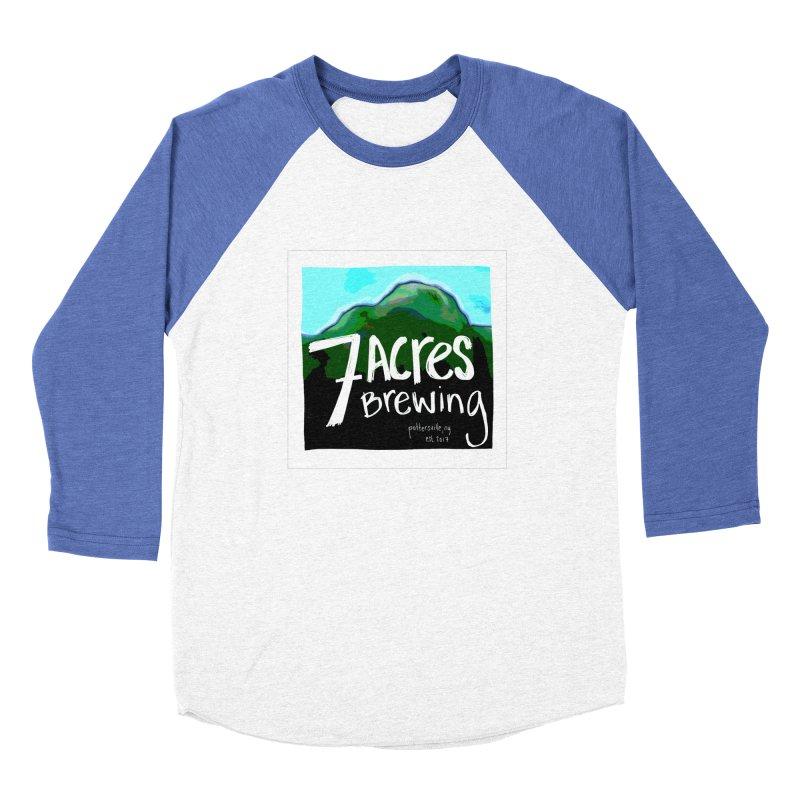 7 Acres Brewing Men's Baseball Triblend Longsleeve T-Shirt by Renee Leigh Stephenson Artist Shop