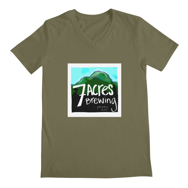 7 Acres Brewing Men's V-Neck by Renee Leigh Stephenson Artist Shop