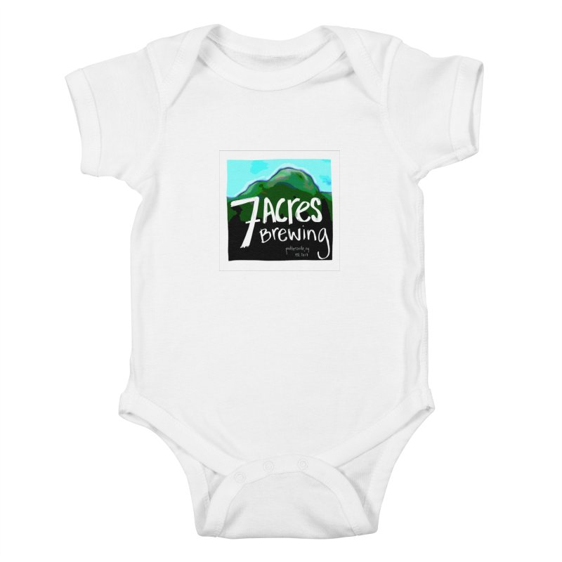 7 Acres Brewing Kids Baby Bodysuit by Renee Leigh Stephenson Artist Shop