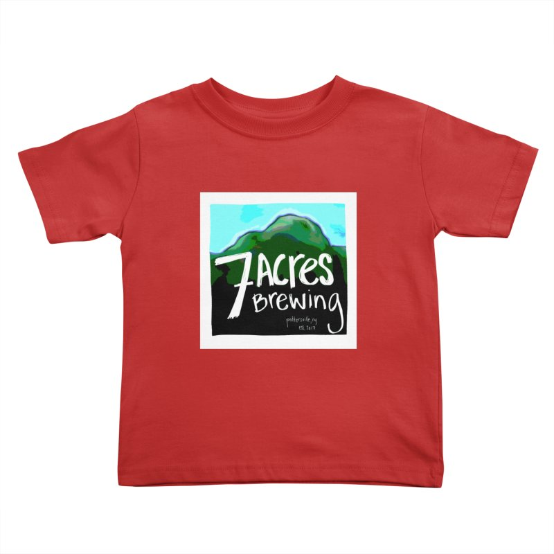 7 Acres Brewing Kids Toddler T-Shirt by Renee Leigh Stephenson Artist Shop