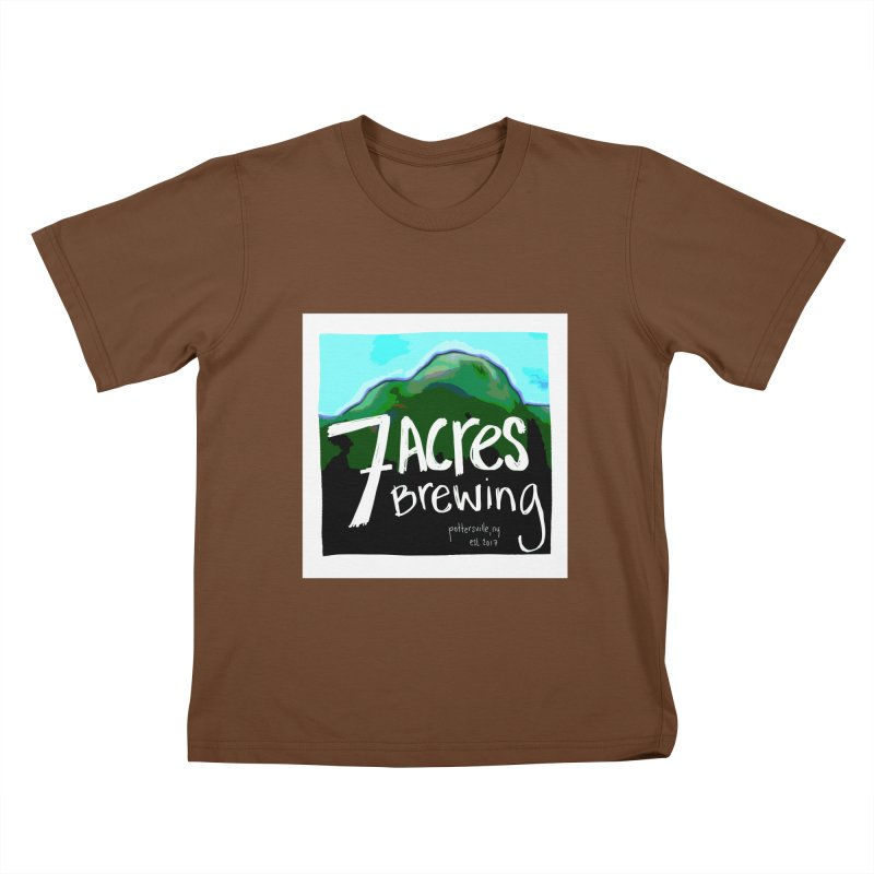 7 Acres Brewing Kids T-Shirt by Renee Leigh Stephenson Artist Shop