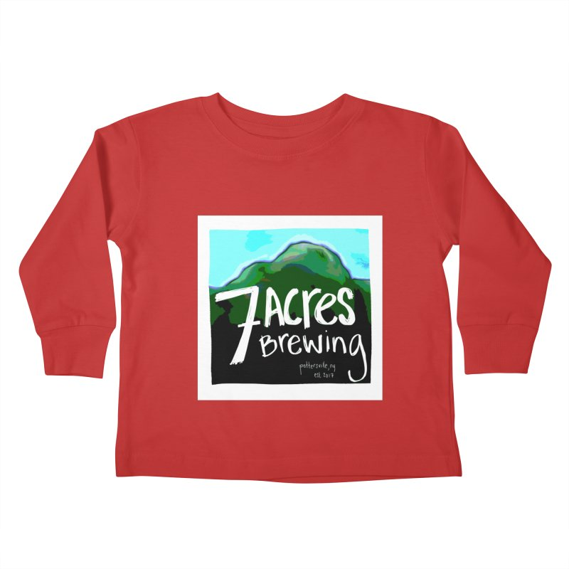 7 Acres Brewing Kids Toddler Longsleeve T-Shirt by Renee Leigh Stephenson Artist Shop