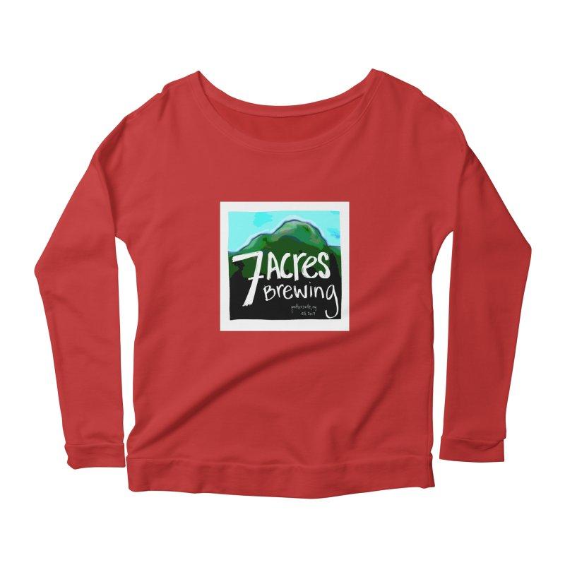 7 Acres Brewing Women's Scoop Neck Longsleeve T-Shirt by Renee Leigh Stephenson Artist Shop