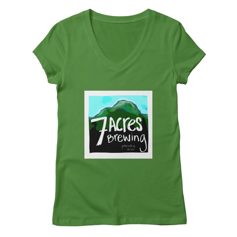 7 Acres Brewing Women's Regular V-Neck by Renee Leigh Stephenson Artist Shop