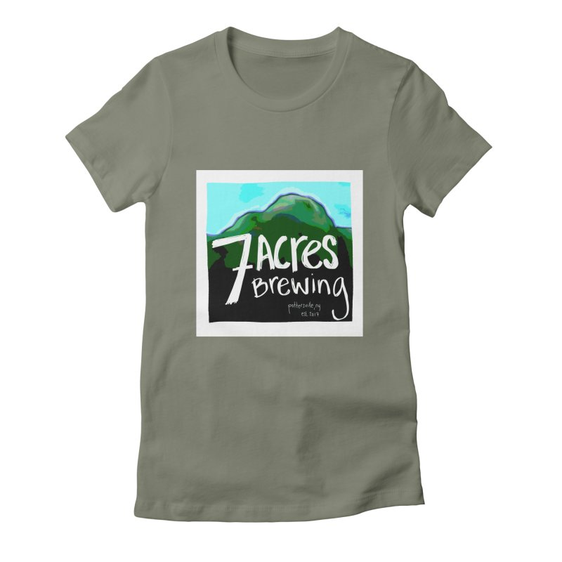 7 Acres Brewing Women's Fitted T-Shirt by Renee Leigh Stephenson Artist Shop