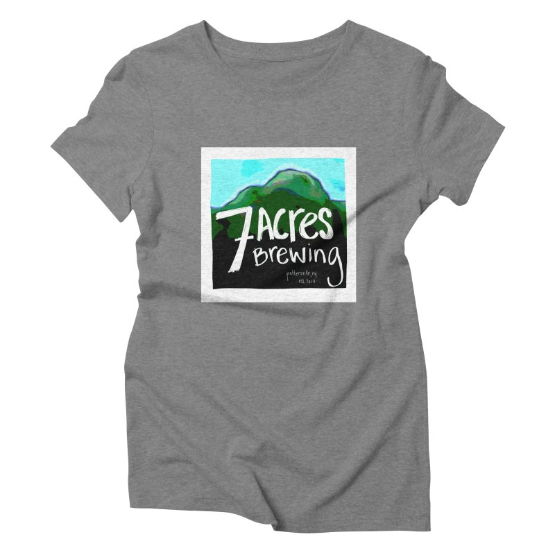 7 Acres Brewing Women's Triblend T-Shirt by Renee Leigh Stephenson Artist Shop