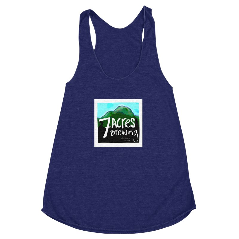 7 Acres Brewing Women's Racerback Triblend Tank by Renee Leigh Stephenson Artist Shop