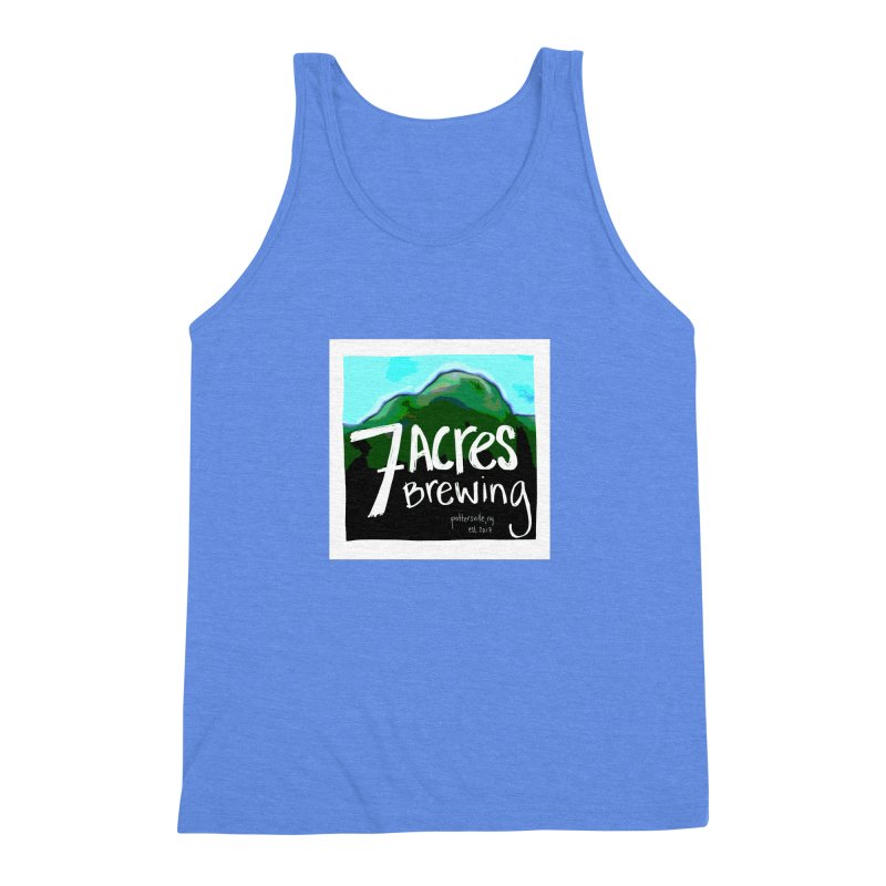 7 Acres Brewing Men's Triblend Tank by Renee Leigh Stephenson Artist Shop
