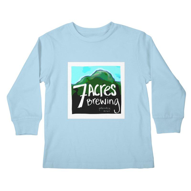 7 Acres Brewing Kids Longsleeve T-Shirt by Renee Leigh Stephenson Artist Shop