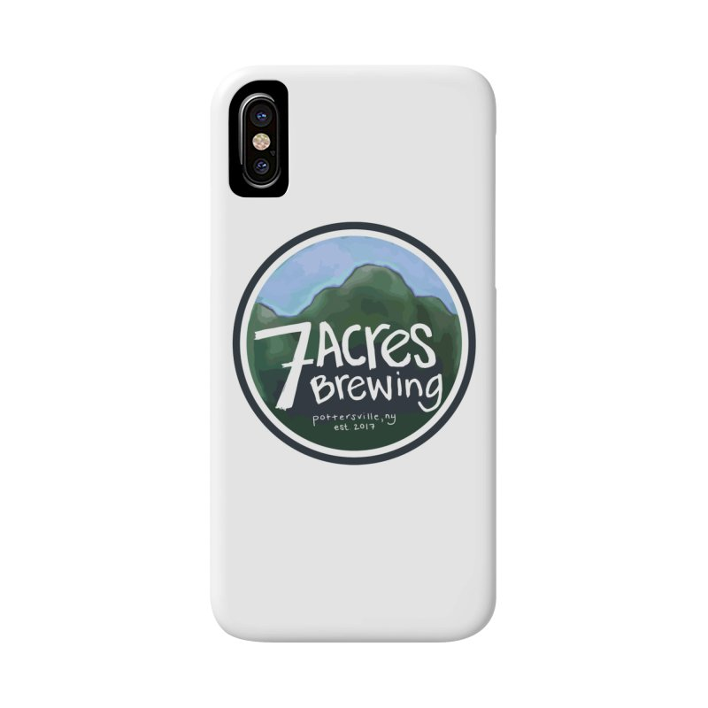 7 Acres Brewing Badge Accessories Phone Case by Renee Leigh Stephenson Artist Shop