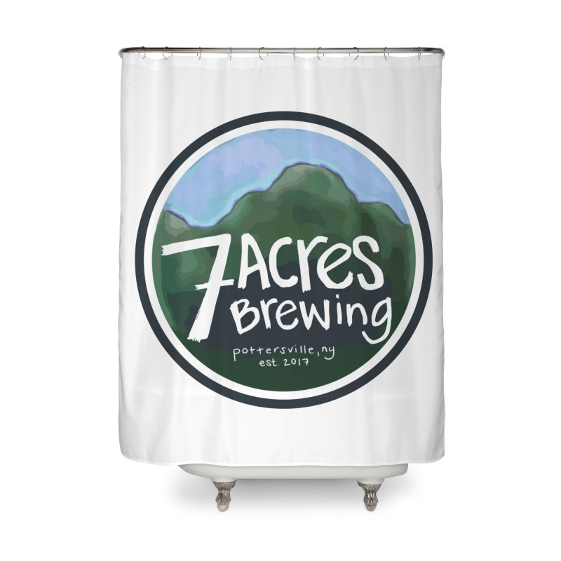 7 Acres Brewing Badge Home Shower Curtain by Renee Leigh Stephenson Artist Shop