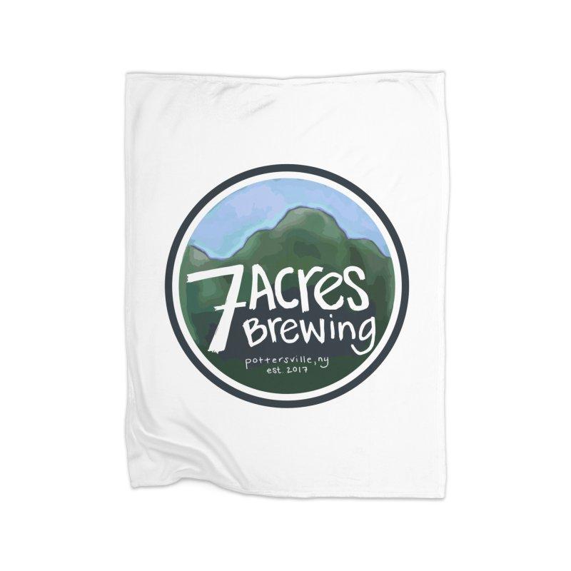 7 Acres Brewing Badge Home Fleece Blanket Blanket by Renee Leigh Stephenson Artist Shop