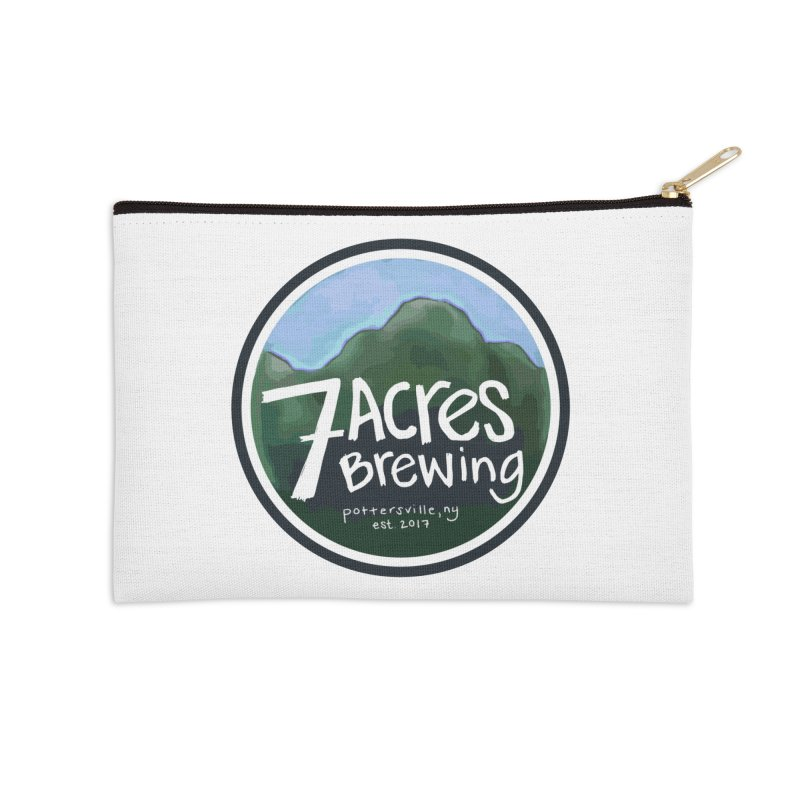 7 Acres Brewing Badge Accessories Zip Pouch by Renee Leigh Stephenson Artist Shop
