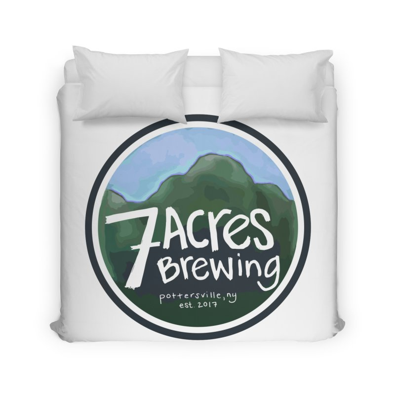 7 Acres Brewing Badge Home Duvet by Renee Leigh Stephenson Artist Shop
