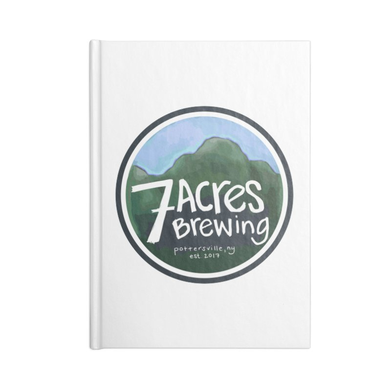 7 Acres Brewing Badge Accessories Notebook by Renee Leigh Stephenson Artist Shop