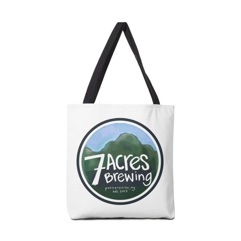 7 Acres Brewing Badge Accessories Bag by Renee Leigh Stephenson Artist Shop
