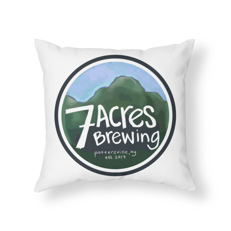 7 Acres Brewing Badge Home Throw Pillow by Renee Leigh Stephenson Artist Shop