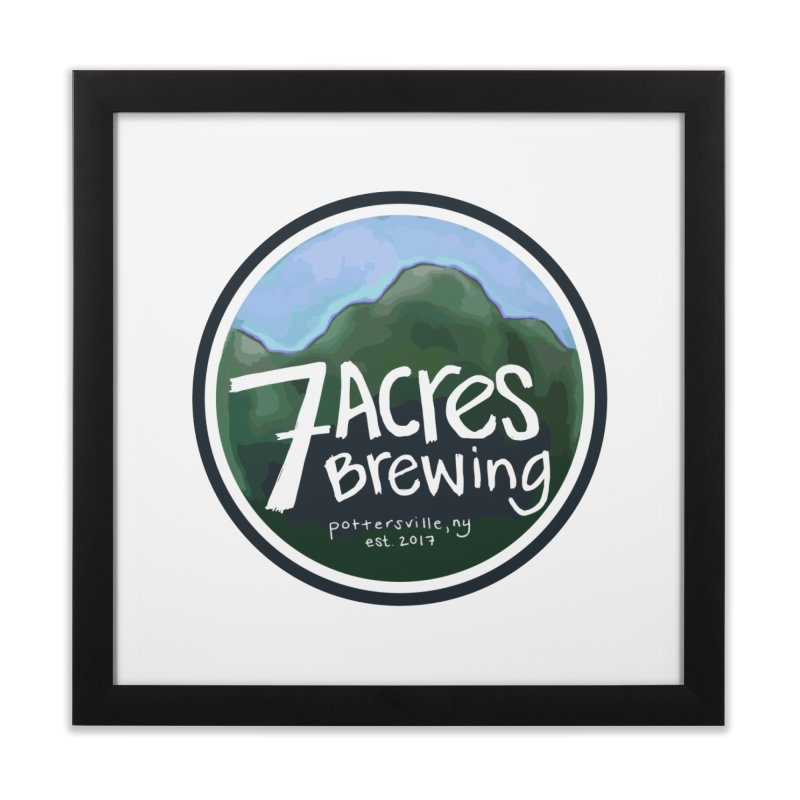 7 Acres Brewing Badge Home Framed Fine Art Print by Renee Leigh Stephenson Artist Shop