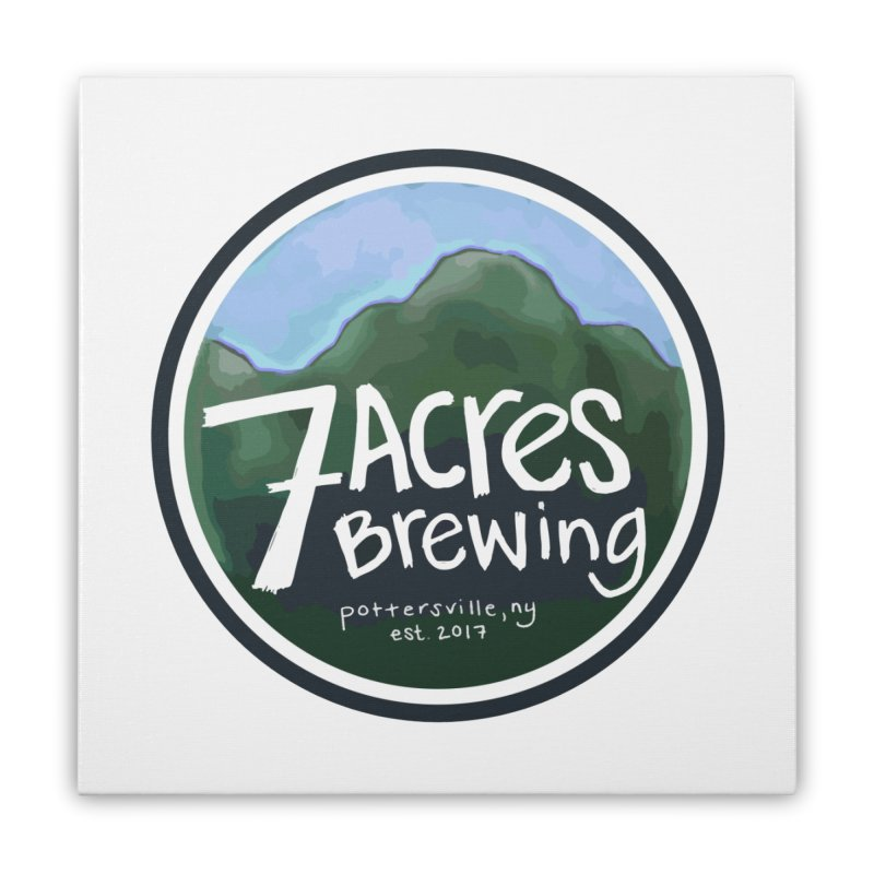 7 Acres Brewing Badge Home  by Renee Leigh Stephenson Artist Shop