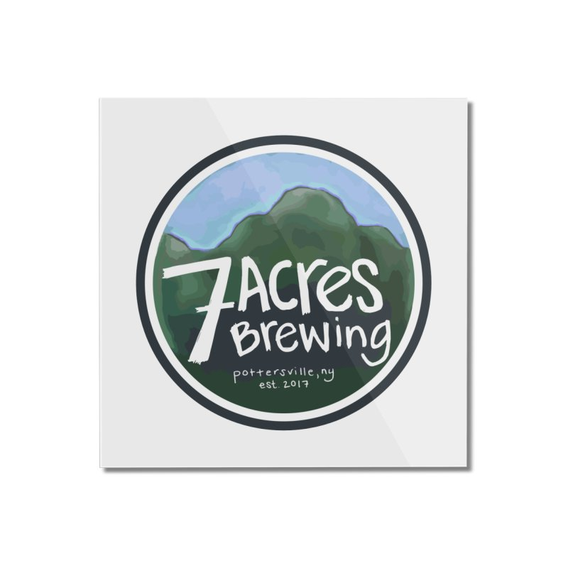 7 Acres Brewing Badge Home Mounted Acrylic Print by Renee Leigh Stephenson Artist Shop
