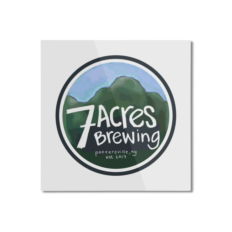 7 Acres Brewing Badge Home Mounted Aluminum Print by Renee Leigh Stephenson Artist Shop